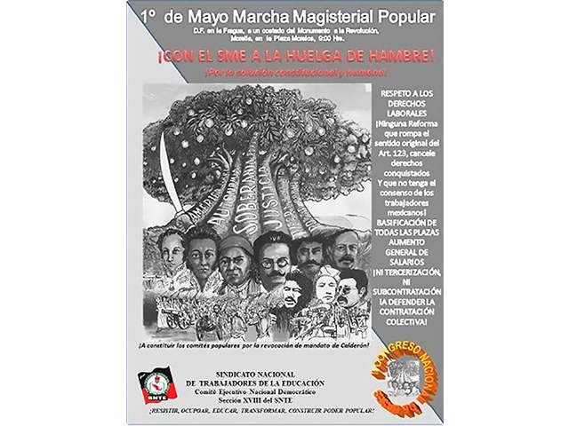 1° de Mayo Marcha Magisterial Popular