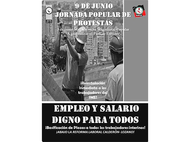 9 de junio Jornada Popular de Protestas