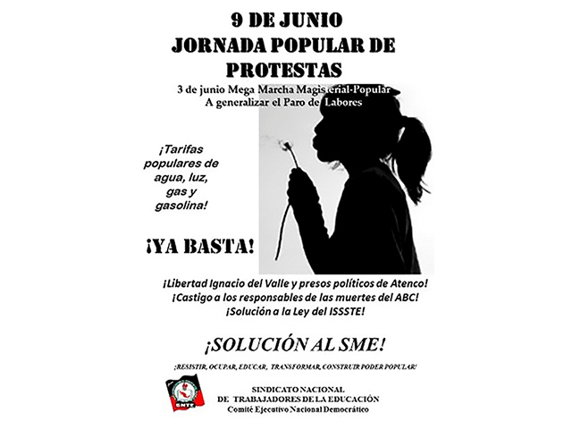 9 de junio Jornada Popular de Protestas 2
